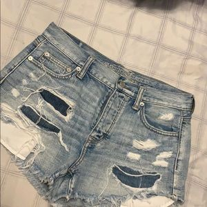 AE Denim Distressed Shorts